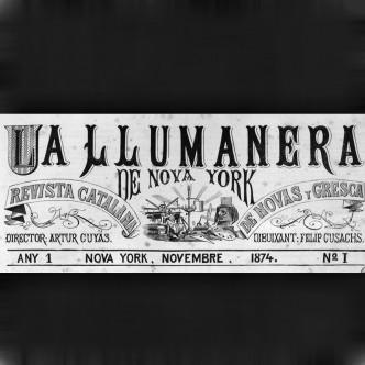 Capçalera de la revista La Llumanera publicada en català a Nova York el 1874