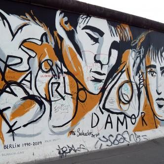 Mural del pintor català al mur de Berlín