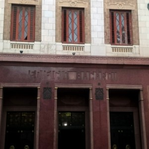 entrada edifici Bacardi Havana