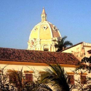 Cupula de de l'exterior de l'esglesia Pere Claver, Cartagena de Indias, Colombia