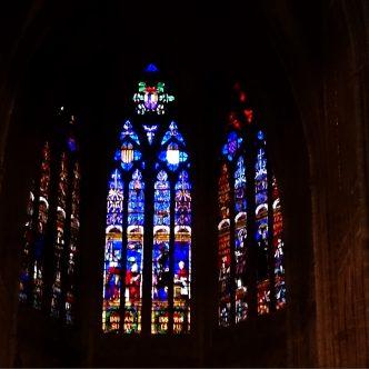 vitrall escut corona catalano aragonesa a Metz, França