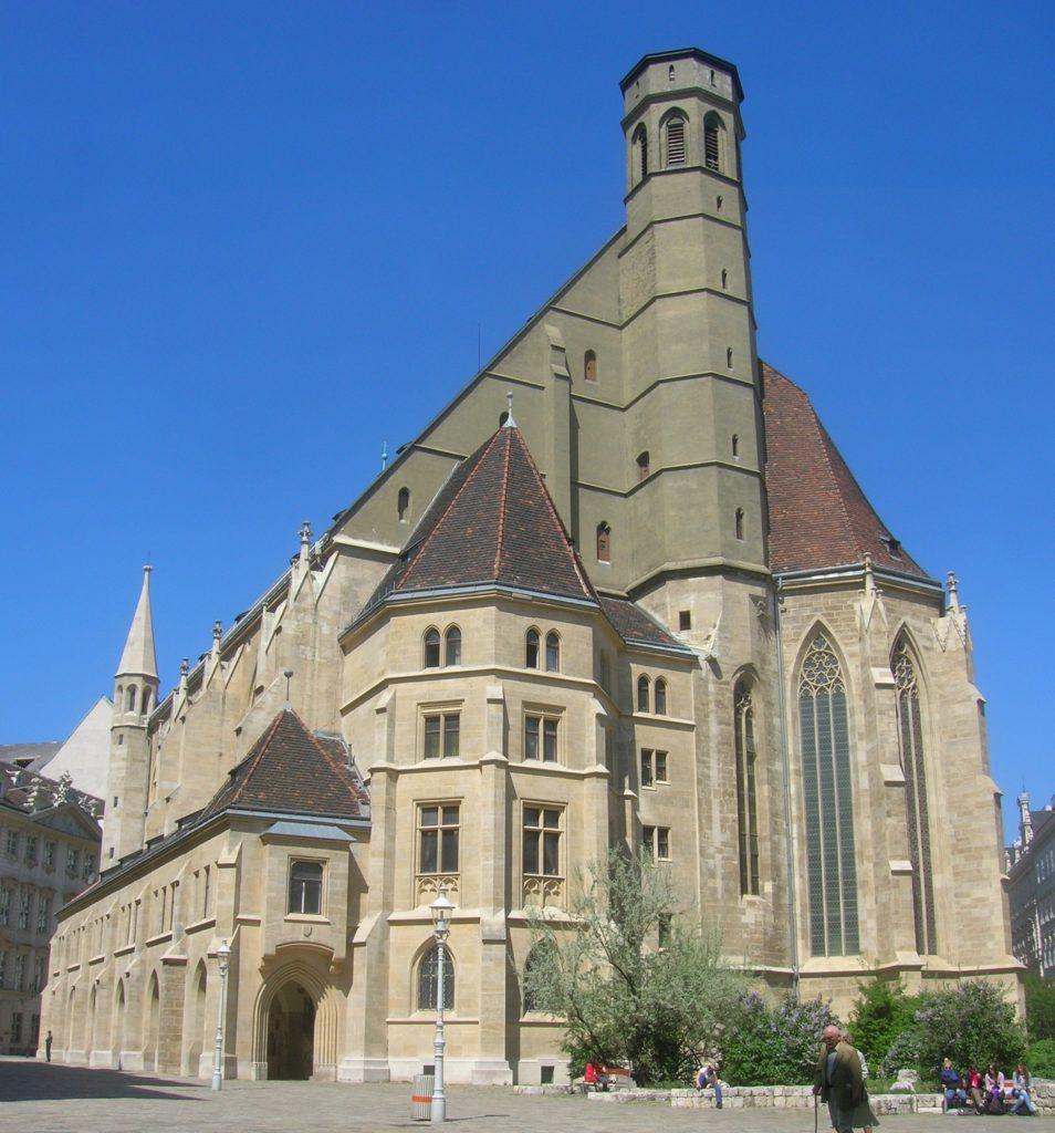 Aquesta imatge té l'atribut alt buit; el seu nom és Minoritenkirche.Wien_-954x1024.jpg